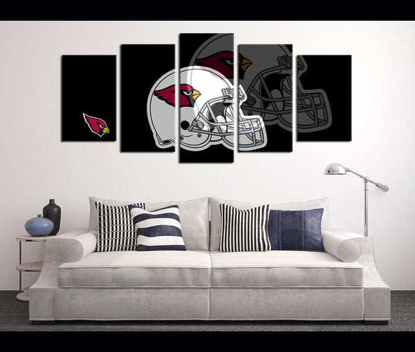 5 Piece Canvas Art Wall Art Canvas Football Helmet Arizona Cardinals