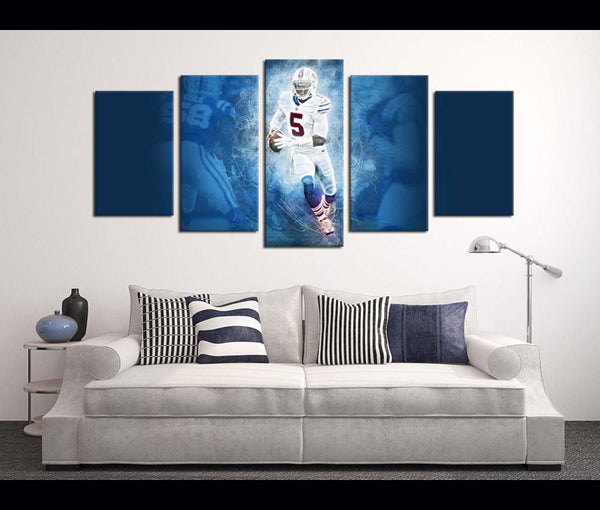 5 Piece Canvas Art Wall Art Decor Buffalo Bills Football Canvas