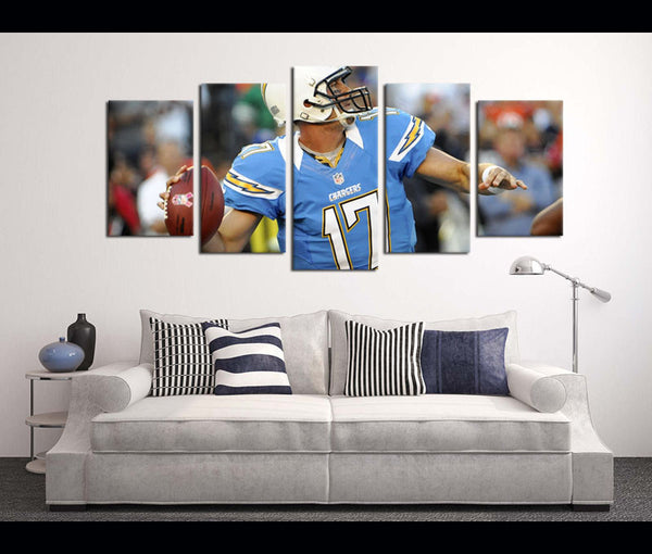 5 Piece Canvas Art Wall Art Decor  Chargers Football Canvas
