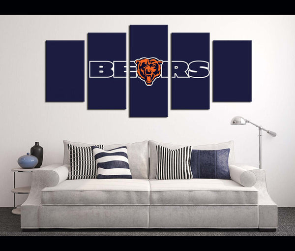 5 Piece Canvas Art Wall Art Decor Chicago Bears Football Canvas