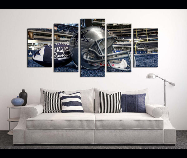 5 Piece Canvas Art Wall Art Decor Dallas Cowboys Football Canvas
