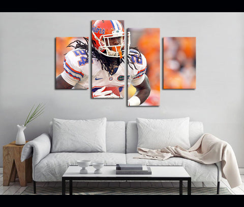 4 Piece Canvas Art Florida Gators Football Canvas Wall Art Deocr