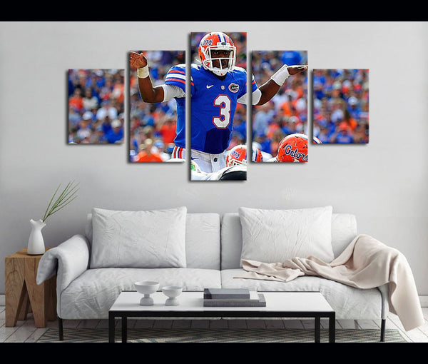 5 Piece Canvas Art Florida Gators Football Canvas Wall Art Decor