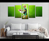 5 Piece Canvas Art Green Bay Packers Football Canvas Wall Art Decor