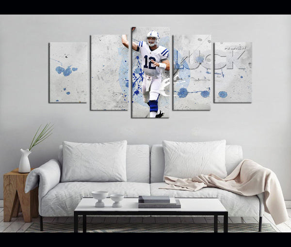 5 Piece Canvas Art Indianapolis Colts Football Canvas Wall Art Decor