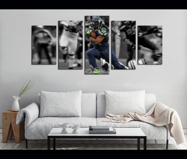 5 Piece Canvas Art Marshawn Lynch Football Canvas Wall Art Decor