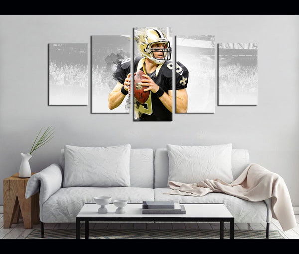 5 Piece Canvas Art New Orleans Saints Football Canvas Wall Art Decor