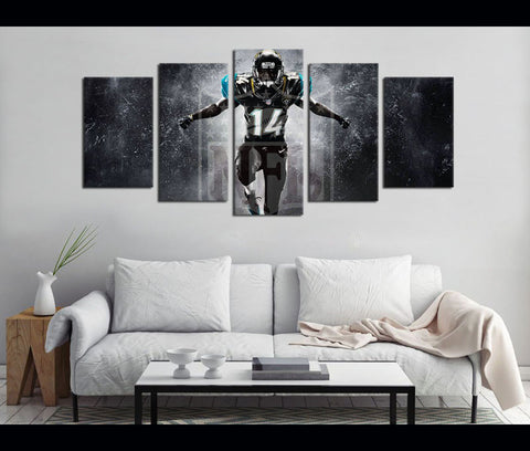 5 Piece Canvas Art NFL Football Canvas Wall Art Decor