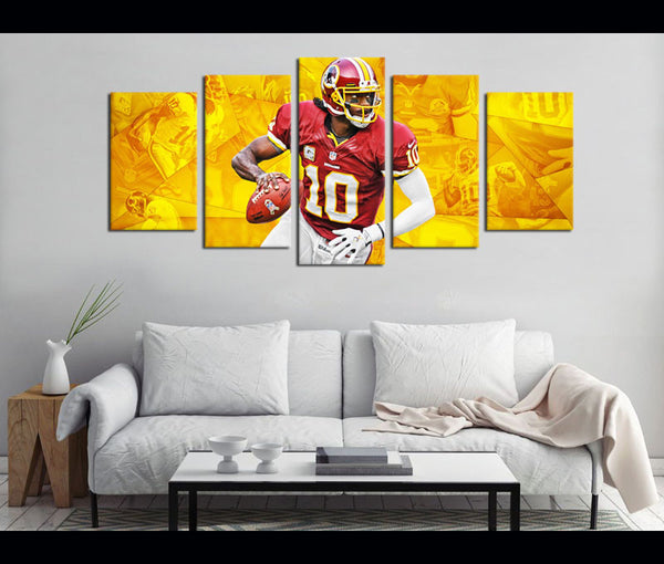 5 Piece Canvas Art Redskins Football Canvas Wall Art Decor