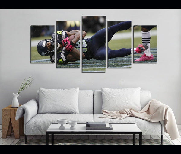 5 Piece Canvas Art Seahawks Football Canvas Wall Art Decor