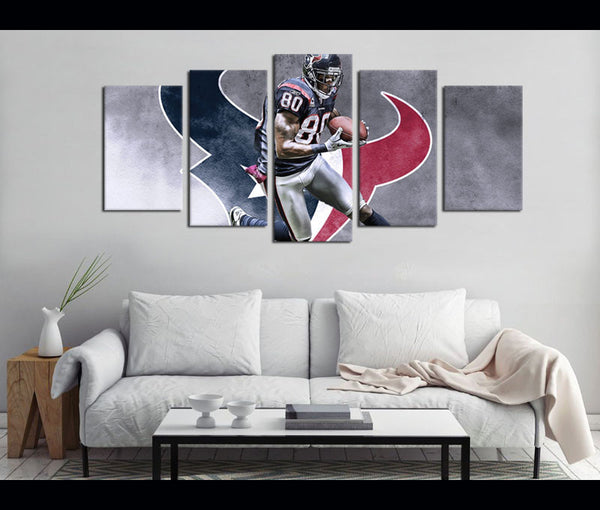 5 Piece Canvas Art Texans Football Canvas Wall Art Decor Awesomever