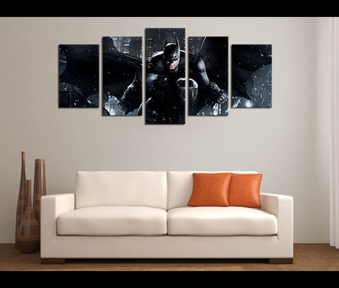 5 Piece Canvas Art Justice League Batman Movie Canvas Wall Art Decor