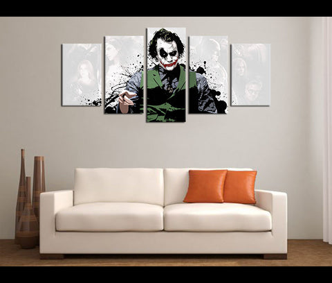 5 Piece Canvas Art Justice League Jokerman Movie Canvas Wall Art Decor