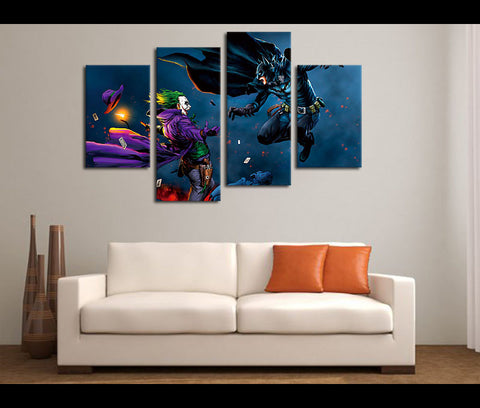 4 Piece Canvas Art Justice League Movie Canvas Wall Art Decor