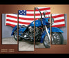 4 Piece Canvas Art Motorcycle Harley Davidson Canvas Vehicle Wall Art Deocr