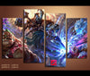 4 Pieces Dota 2 Canvas Art Game Painting Wall Art Print