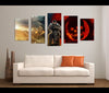 5 Pieces Gears of War Canvas Art Game Painting Wall Art Print