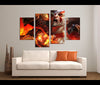 4 Pieces God of War Canvas Art Game Painting Wall Art Print