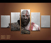 5 Pieces God of War Canvas Art Game Painting Wall Art Print