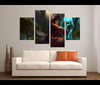 4 Pieces League of Gods Canvas Art Game Painting Wall Art Print