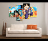 Framed 4 Pieces Dragon Ball Z Canvas Art Anime Wall Art Decor
