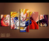 5 Pieces HD Prints Dragon Ball Z Anime Canvas Wall Art Decor