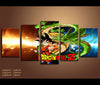 5 Piece Canvas Art Dragon Ball Z Anime Canvas Wall Art Decor