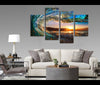 4 Pieces Sunset Sea Wave Canvas Art Nature Painting Wall Art Print
