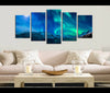 5 Pieces Canvas Art Aurora Nature Canvas Prints