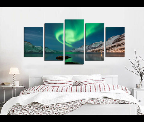 5 Pieces Auror Canvas Art Nature Canvas Prints