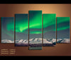 5 Pieces Aurora Borealis Canvas Art Nature Canvas Prints