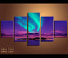 5 Pieces Northern Lights Canvas Art Aurora Nature Canvas Prints