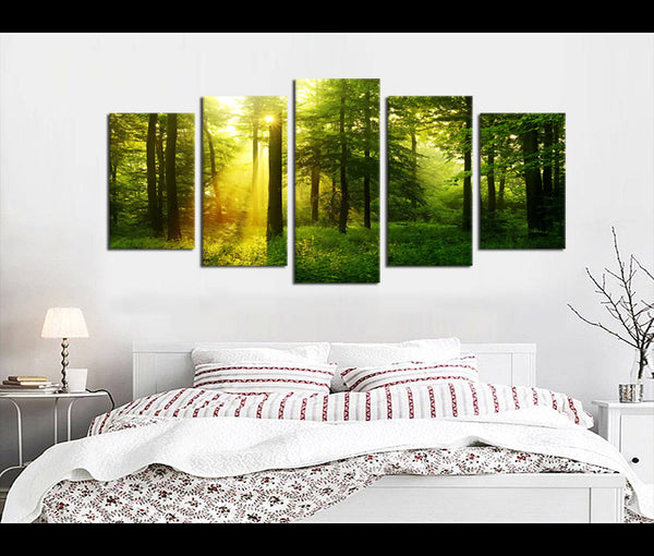 5 Pieces Canvas Art Forest Nature Canvas Prints