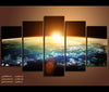 5 Pieces Space Sunrise Earth Canvas Art Nature Canvas Prints