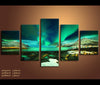 5 Pieces Canvas Art  Aurora Nature Canvas Prints Northern Lights