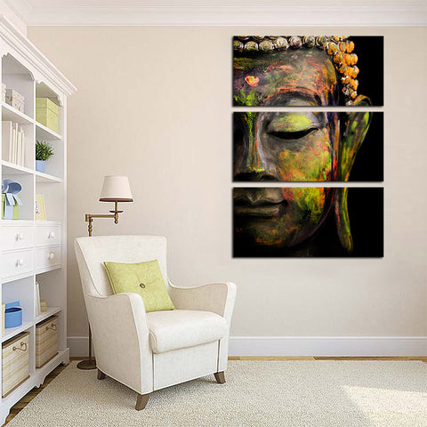 3 Pieces Buddha Statue Canvas Art Canvas Prints