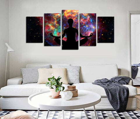 5 Pieces Buddha Statue Canvas Art Meditation Canvas Prints