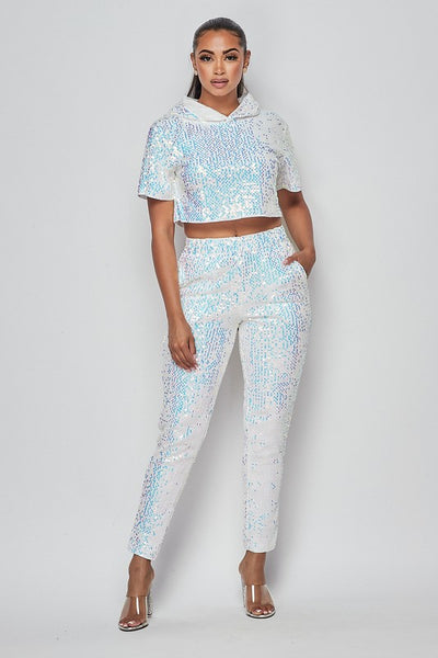 Isis Sequin Jogger Set
