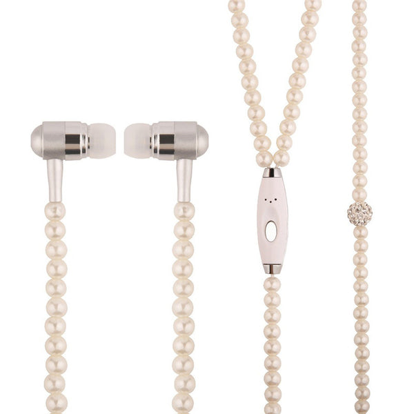 Luxurious Pearl Earphones - Miss Hollywood's