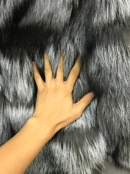 Silver Fox Fur Coat - Miss Hollywood's