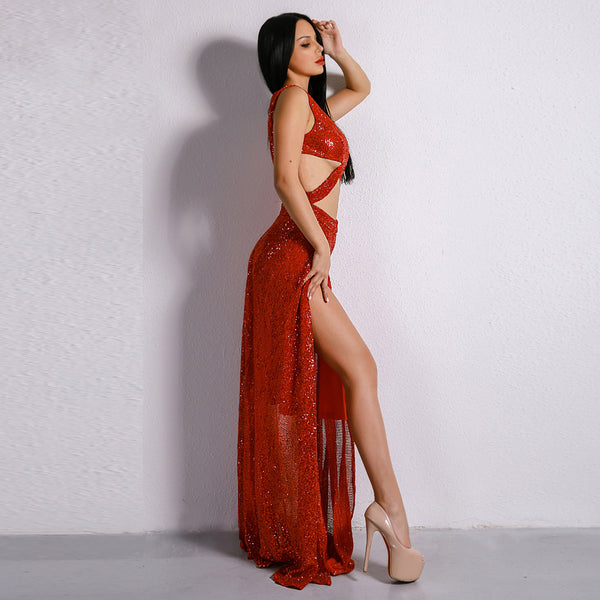 Vanna Dress (Red Or Pink) - Miss Hollywood's