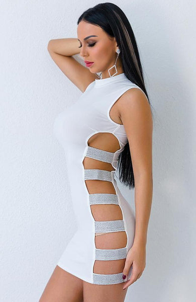 Maj Dress (White) - Miss Hollywood's