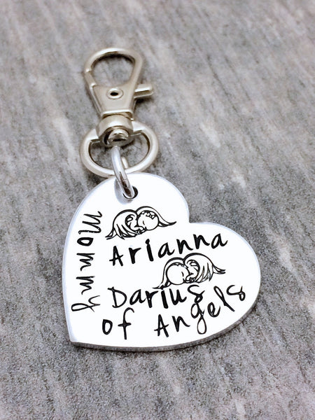 Angel Baby Memorial Keychain for Mommy