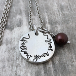 """follow your soul"" chunky pewter necklace"