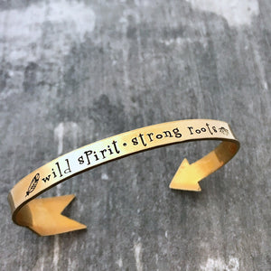 Wild Spirit Strong Roots arrow cuff
