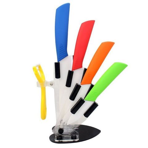 Ceramic Knife Set (w Holder)