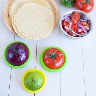 Silicone Fresh Food Huggers (4pcs Combo Pack)
