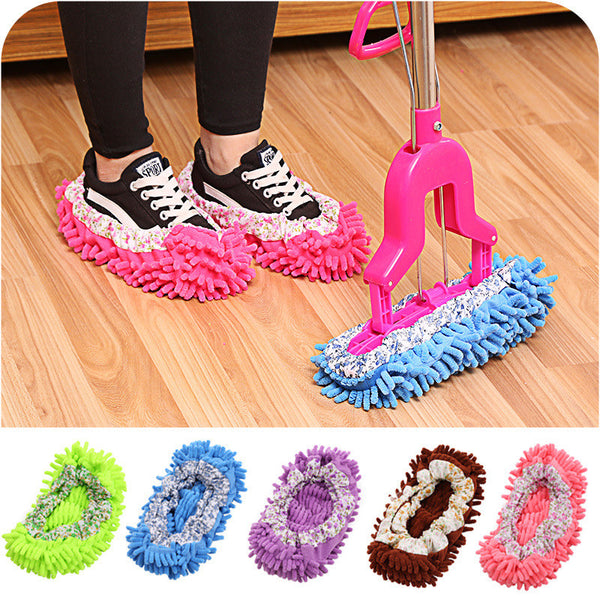 HappyHome Microfiber Dust Mop Slippers