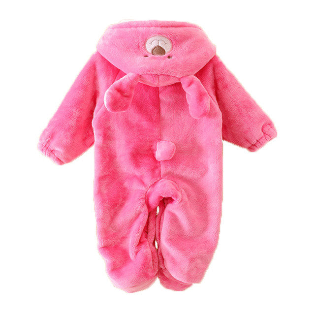 Hot Pink Bear romper