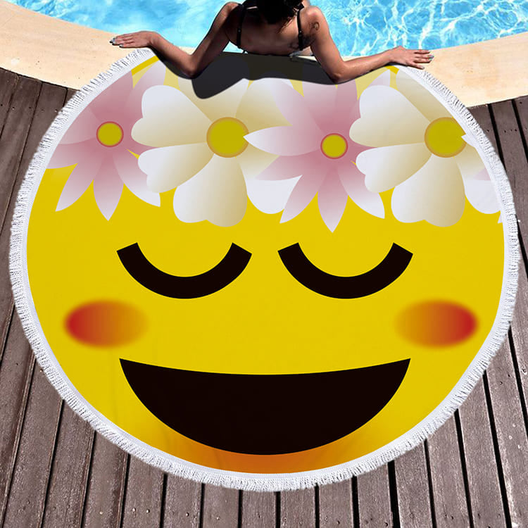 Serviette de plage Smiley